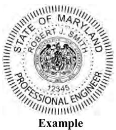 Sample Professional Engineer S Seal